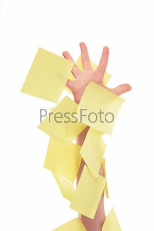 Рука в стикерах