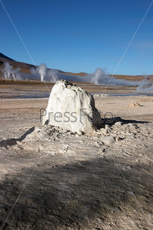 Dormant geyser, El Tatio geothermal field, Chile