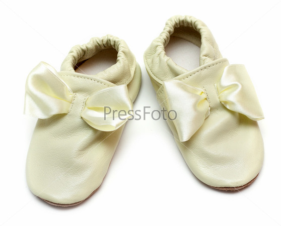 Pair baby leather slippers