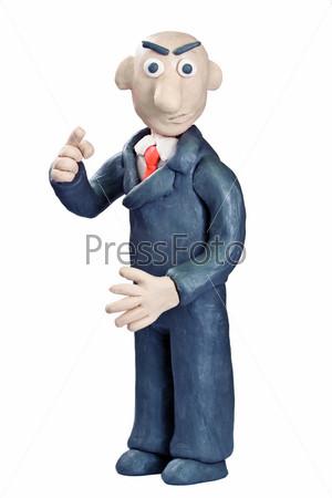 plasticine businessman