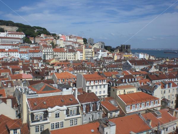 Городской пейзаж, город Лиссабон