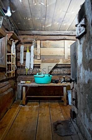 russian rustic bath-house