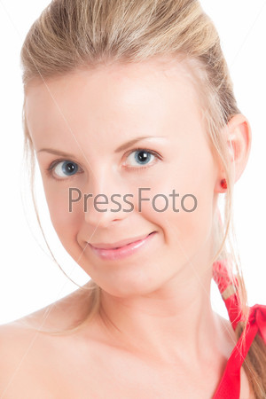 Young womain with natural makeup