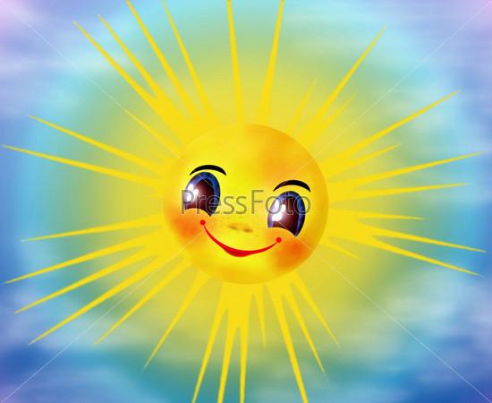 картинка улыбающегося солнышка