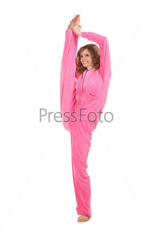 Девушка в розовом костюме фото 393-728