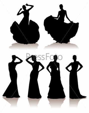 Бальное силуэт платья