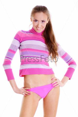 Фото гламурная девушка в розовом фото 322-561
