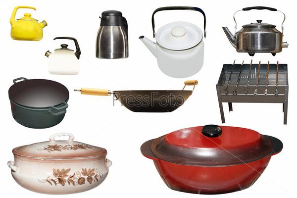 Фотография на тему Посуда под белом фоне