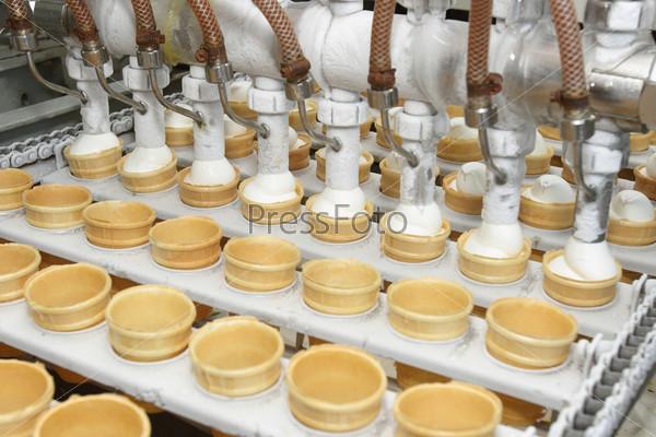 production of ice cream using winged