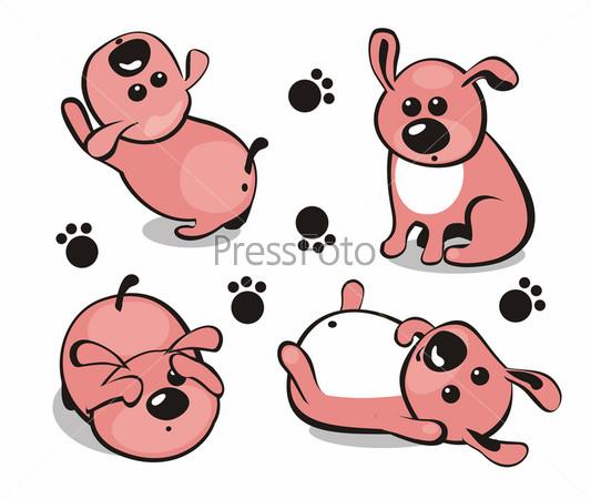 Нарисованные щеночки