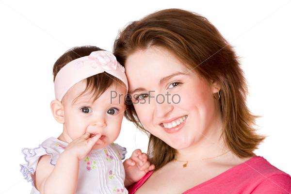 Мама с дочкой трутся
