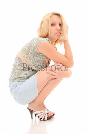 Подборки фоток девушек сидящих на корточках фото 733-170
