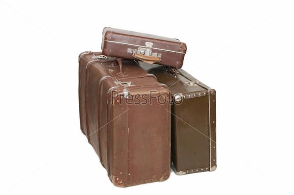 Старые чемоданы - цена дорожные сумки из кожзаменителя