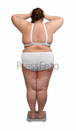 Толстая женщина вид сзади