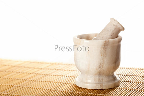 Marble mortar with pestle