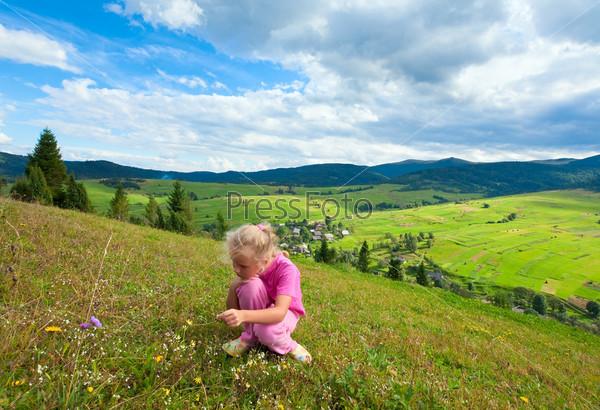 Girl in a mountain walk