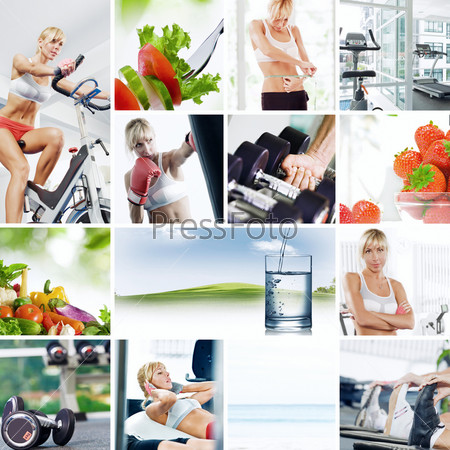 Здоровый образ жизни, коллаж