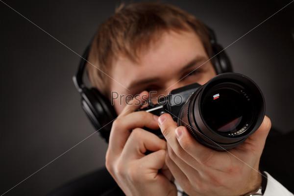 Spy with camera