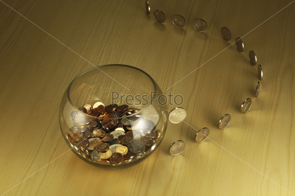 Coins going to bowl