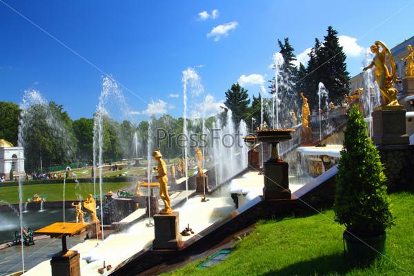 petergof park in Saint Petersburg Russia