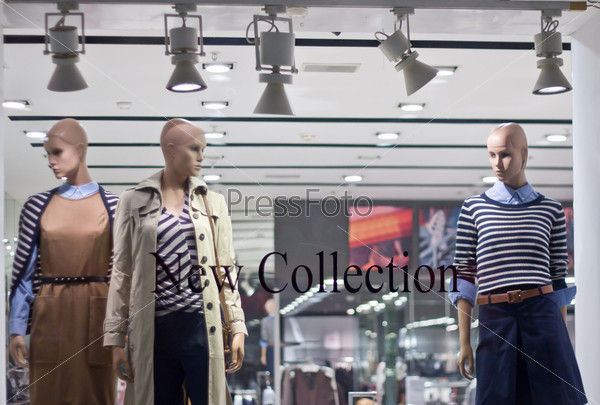 storefront with mannequins