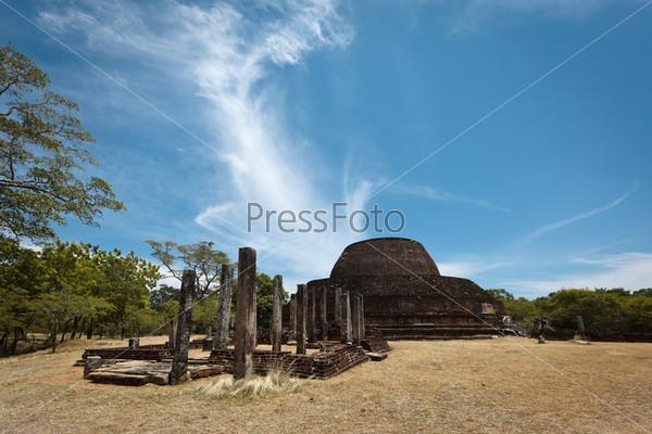 Ancient Buddhist dagoba (stupe) Pabula Vihara