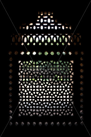 Marble carved screen window at Isa Khan's Tomb, Delhi, Delhi