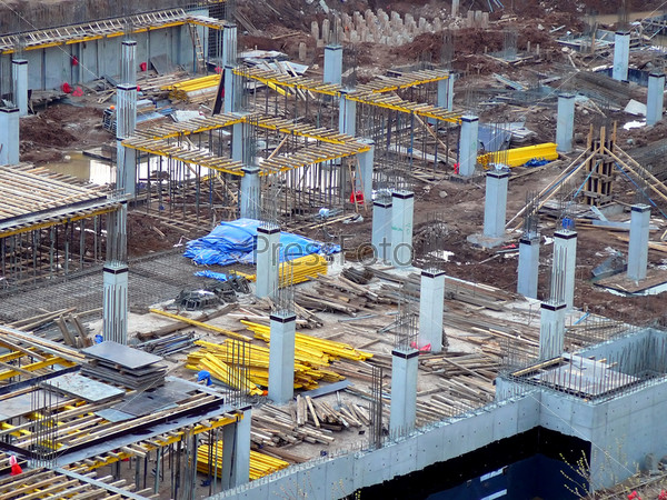 view on construction site