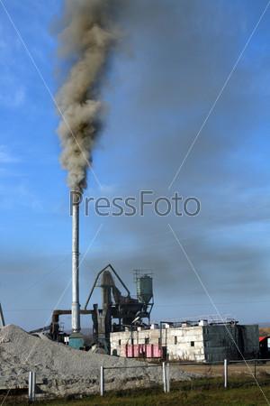 black toxic smoke
