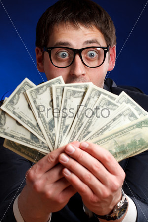Man with money