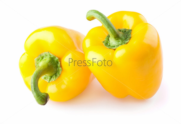 Two yellow sweet pepper