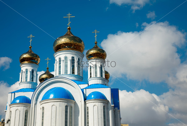 Gold cupolas.