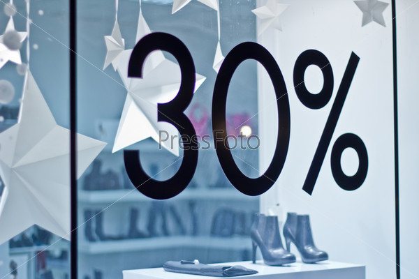 glass showcase trendy shoe store