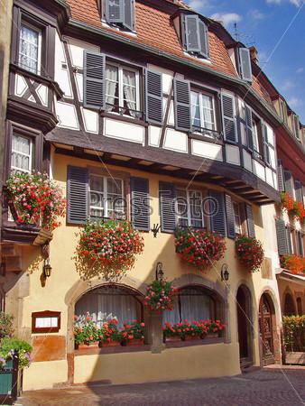 Городской пейзаж. Эльзас. Кольмар. Франция