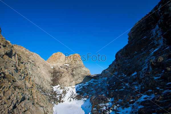 wild rocky in winter