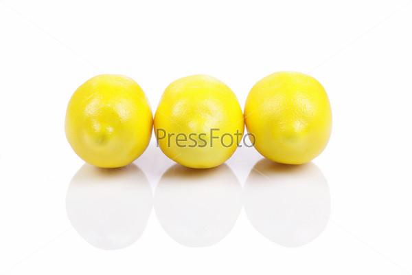Group lemon, isolated on the white background