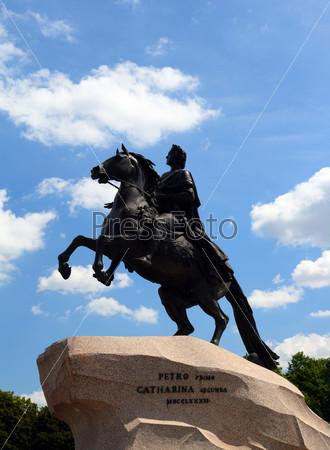 Peter 1 monument in Saint-petersburg