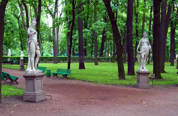 Summer gardens in Saint Petersburg