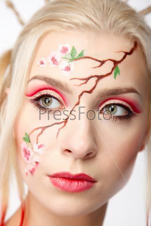 Blonde in the Sakura image