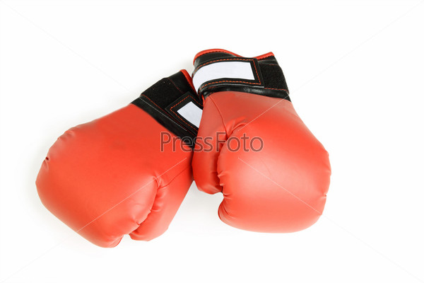 Boxing gloves, isolated on the white background