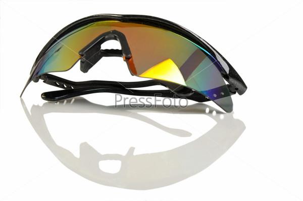 Sports sunglasses isolated on white background