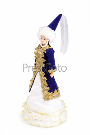 A doll in national costume of the Asian