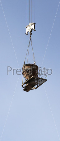 crane equipment tank for cement lifting