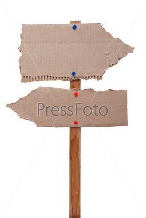 Cardboard sign