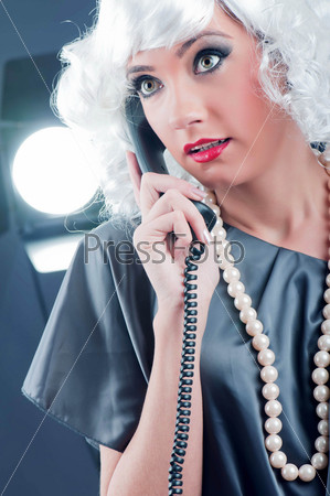 Attractive woman speaking on the phone