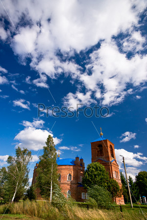 Russian church and birch