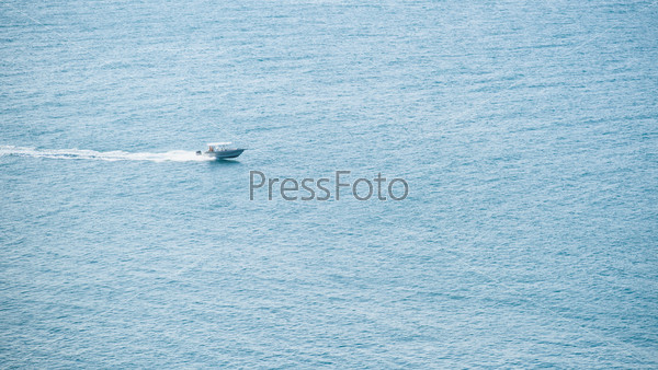 Motor boat in the sea