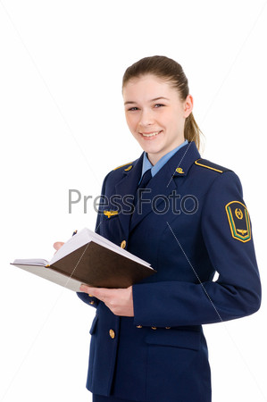 girl in uniform
