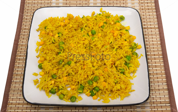 Rice with peas and corn