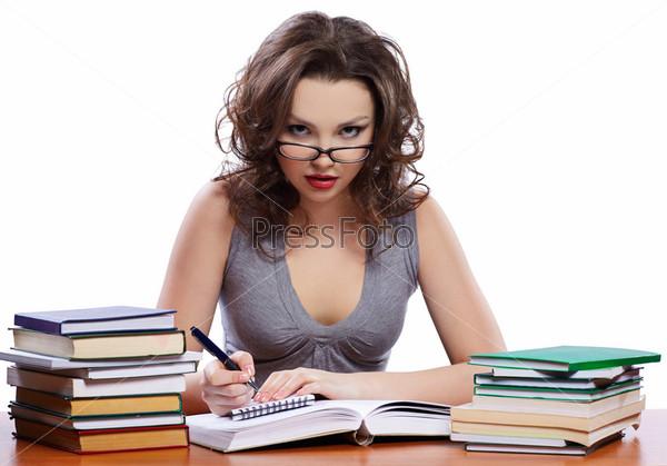 Студентка в очках, порно однажды в парке